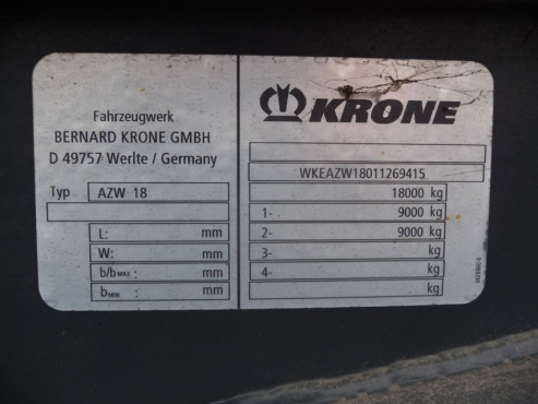 Прицеп Krone AZW18 самосвал